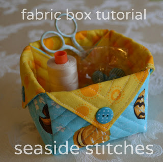 Easy Fabric Box Tutorial