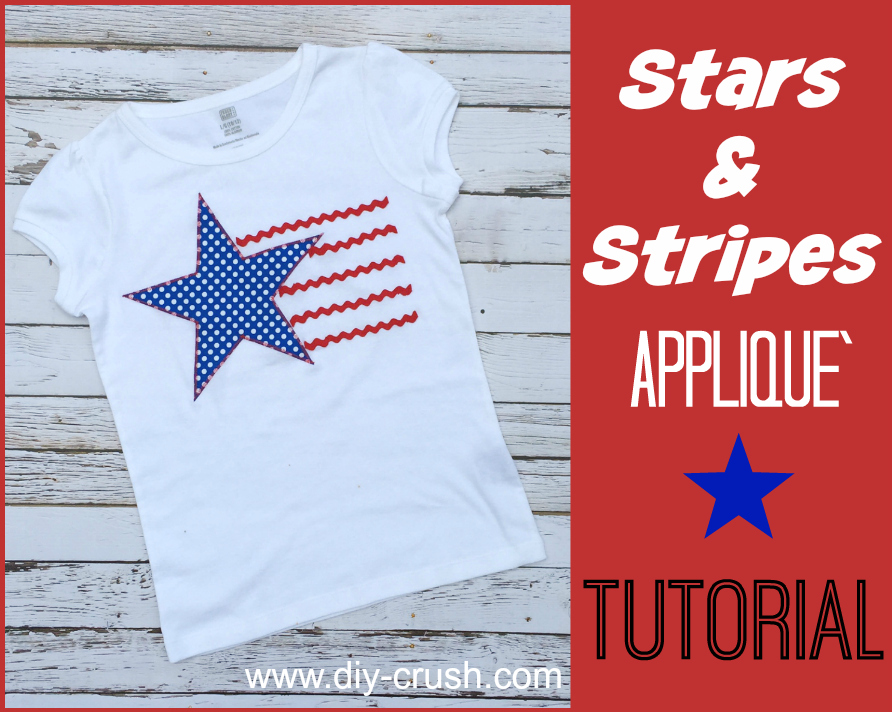 Applique t shirt tutorial