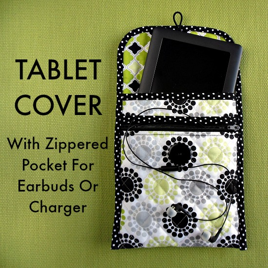 Quilted tablet cover tutorial