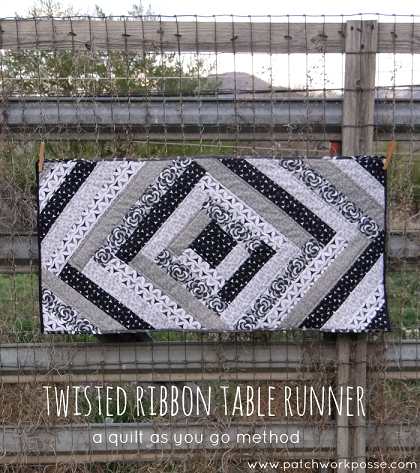 Twisted ribbon table runner pattern