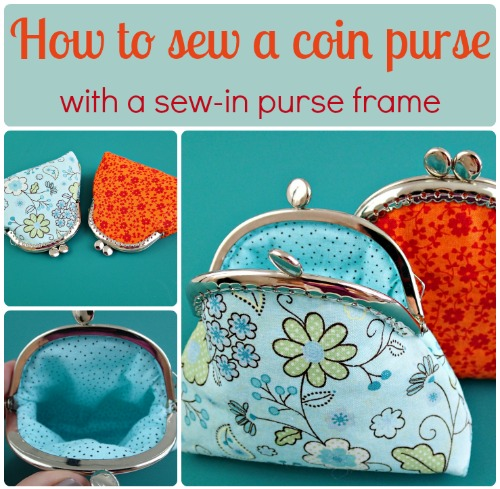 How to make a coin purse with a sew in frame