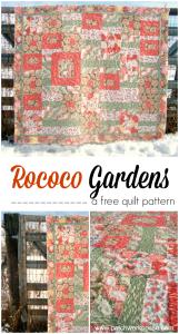 Rococo gardens quilt pattern