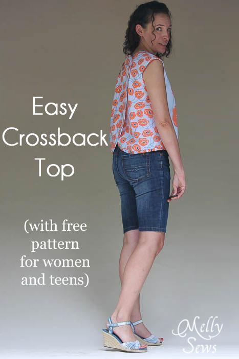 Cross back top pattern