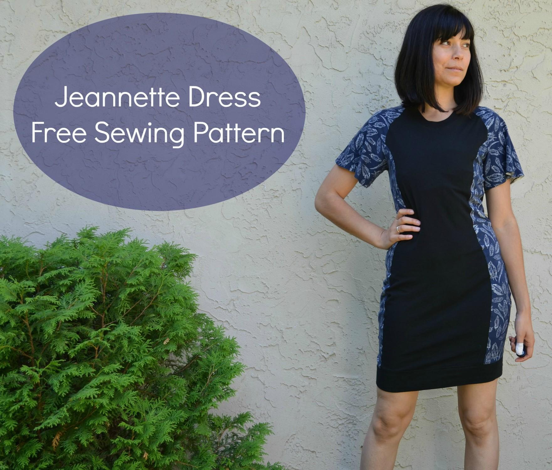Jeannette dress pattern - Sewing 4 Free