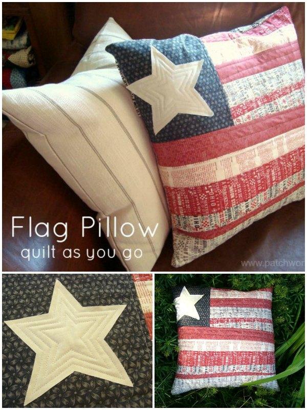 American flag pillow pattern