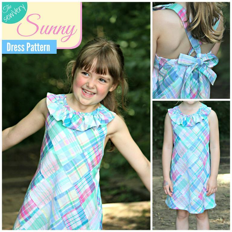Little girls sunny dress pattern