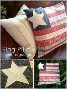 American flag pillow pattern
