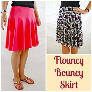 Flouncy skirt pattern
