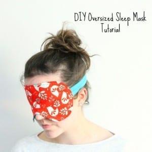 Over sized Sleep Mask pattern