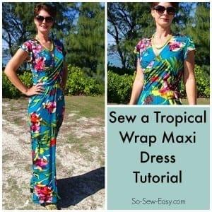 Wrap maxi dress pattern