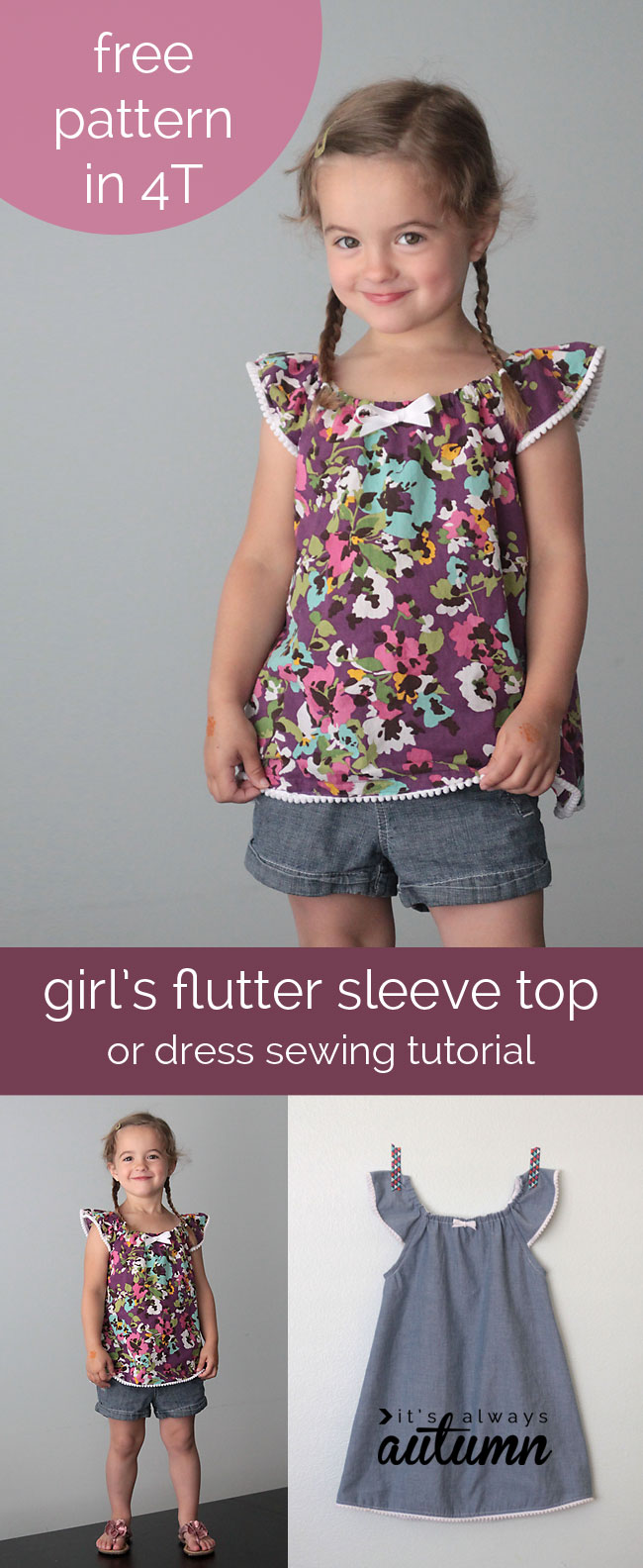 Flutter sleeve top pattern