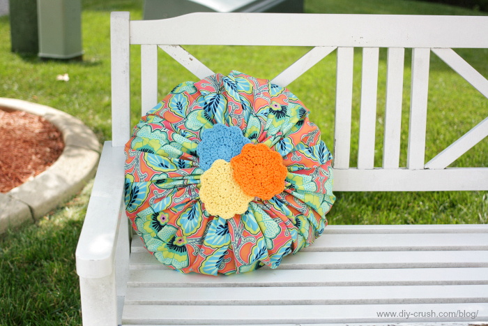 Blossom doily pillow tutorial