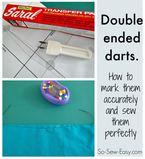 Sewing double ended darts