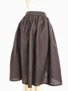 Gathered midi skirt pattern