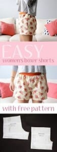 Women's boxer shorts pattern