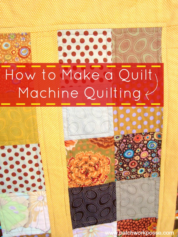 Machine quilting how to