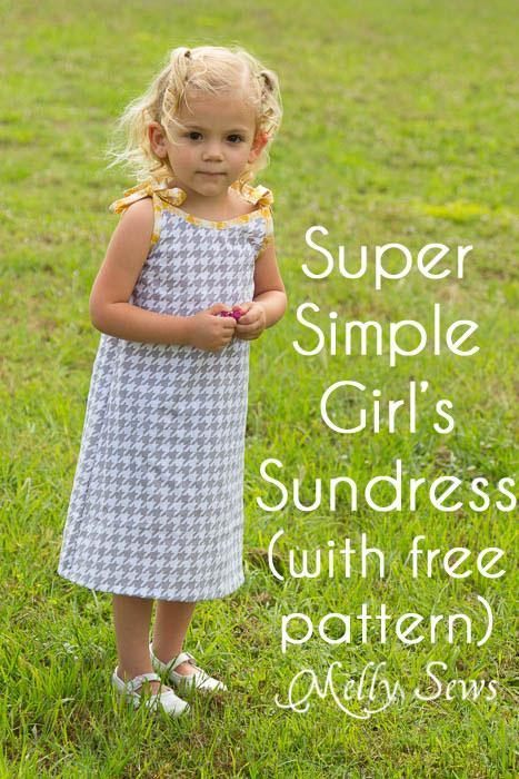 Simple little girl sundress pattern