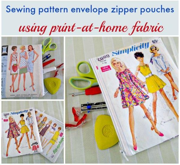 Vintage sewing pattern envelope