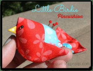 Bird pincushion pattern