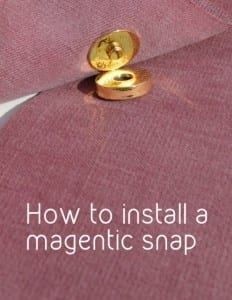 How to install a magnetic snap