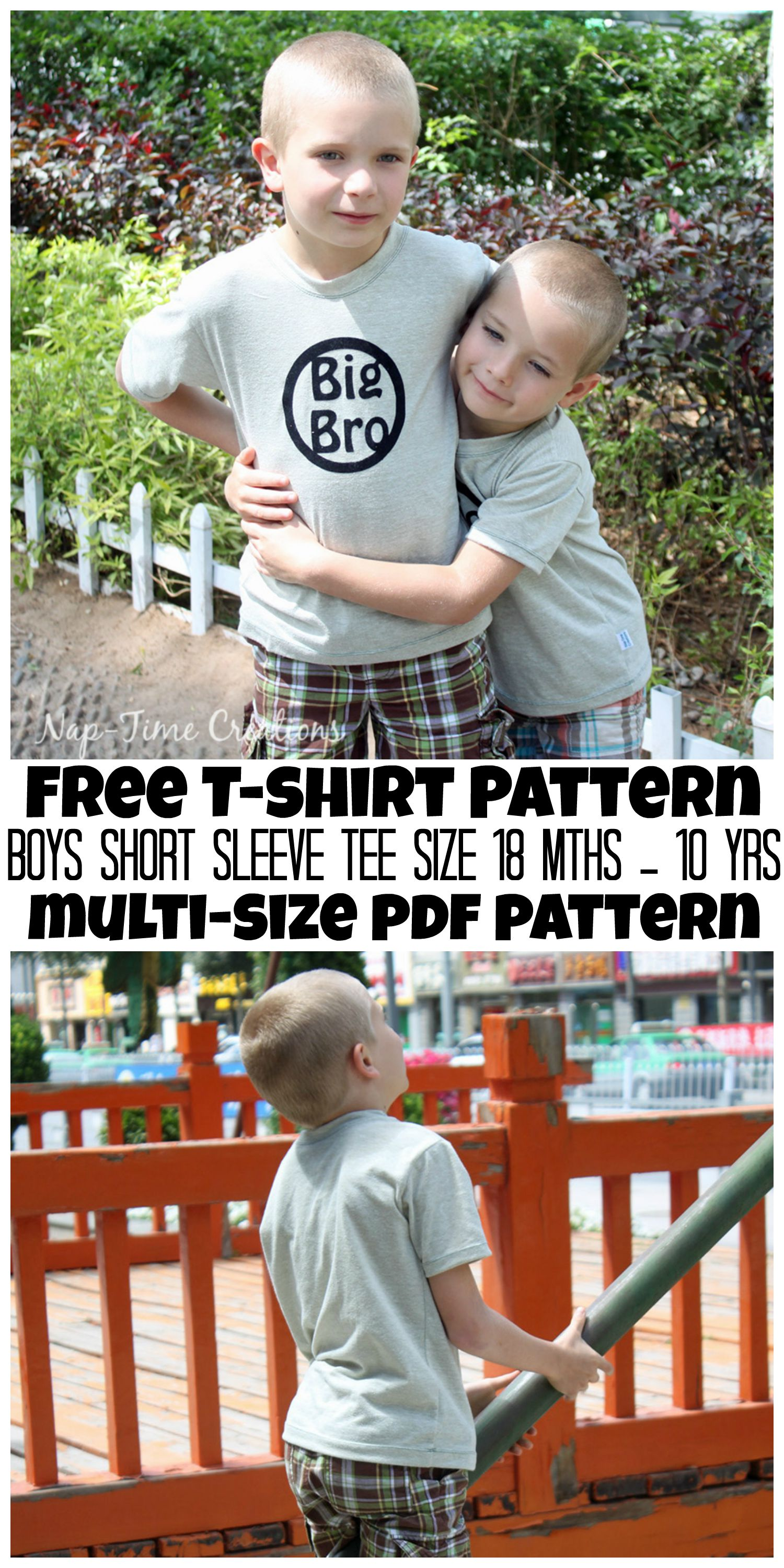 Boys summer t-shirt tutorial
