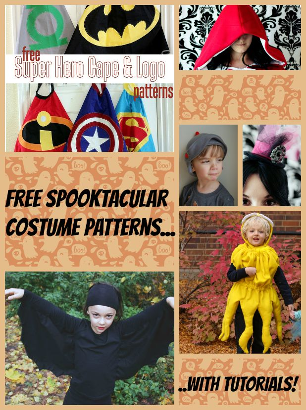 Free patterns for Halloween costumes