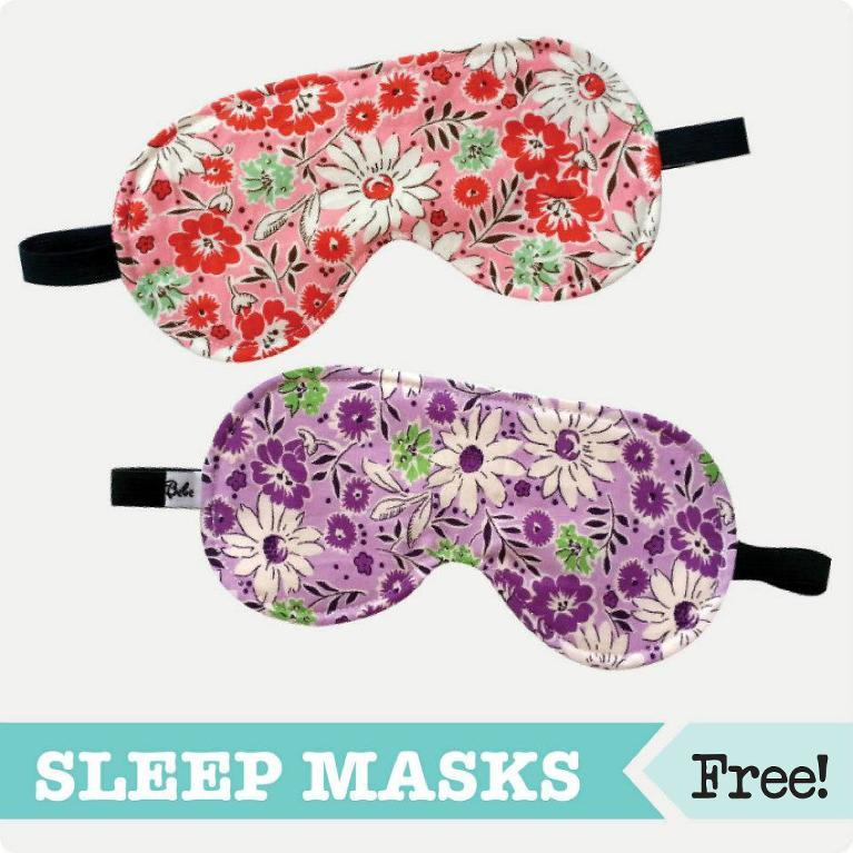 Sleep eye mask pattern