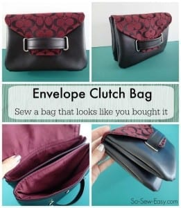 Envelope clutch bag pattern
