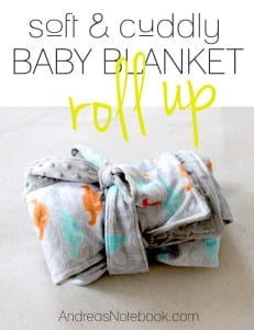 Roll-Up and Go Baby Blanket Tutorial