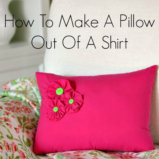 How to make a shirt pillow