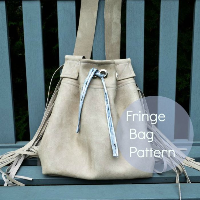 Fringe bag pattern