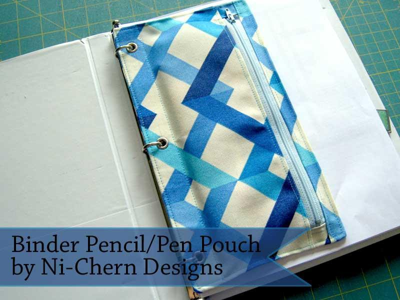 3 ring binder zipper pouch pattern