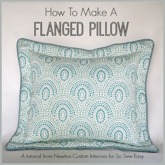 How To Make A Flanged Pillow