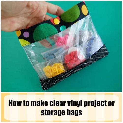 Vinyl zipper bag tutorial