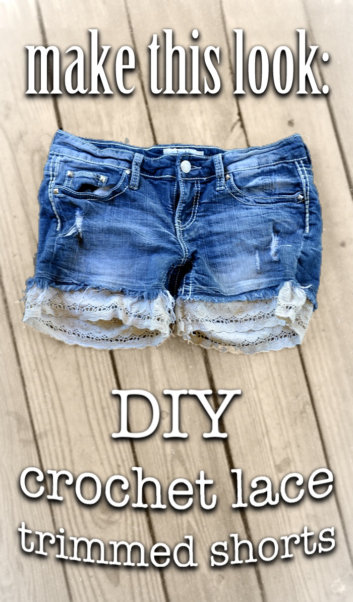 How to add lace trim to shorts
