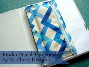 3 ring binder zipper pouch pattern