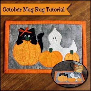 Halloween mug rug