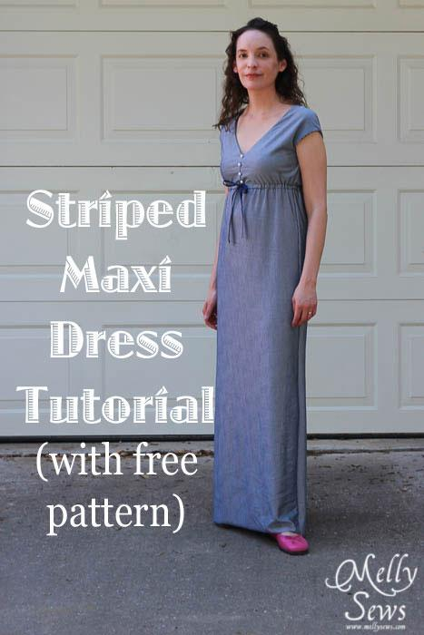 Stripped Maxi Dress Pattern