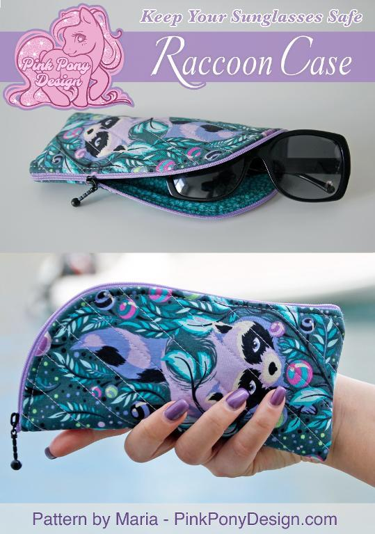 Zipper sunglasses case