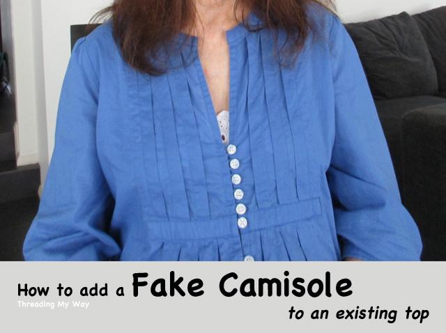 Fake camisole insert