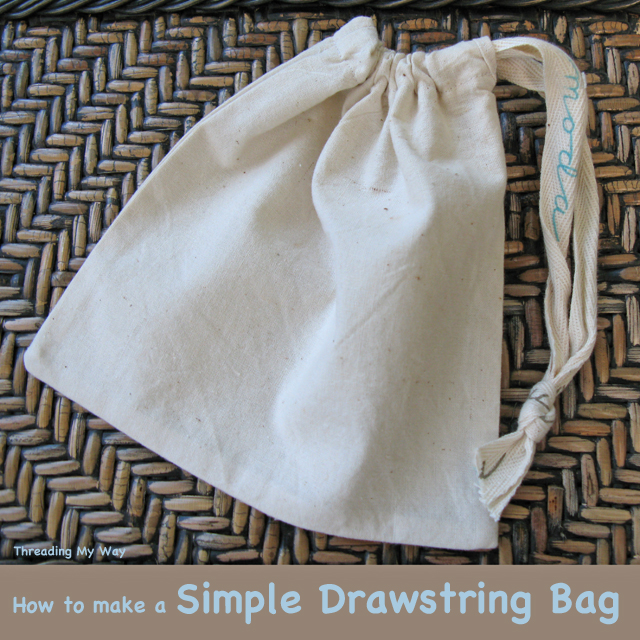 Calico drawstring bag pattern
