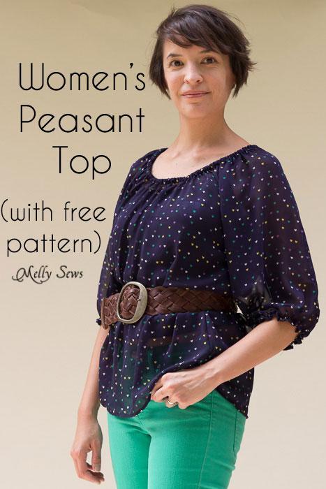 Womens peasant top pattern