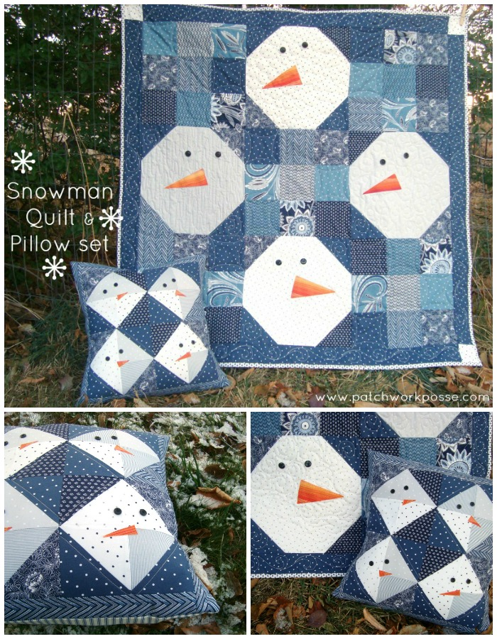 Snowman pillow tutorial