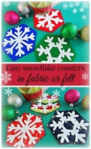 Snowflake coaster pattern