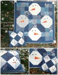 Snowman pillow tutorial