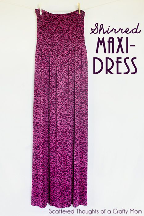 Shirred Maxi Dress Tutorial