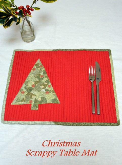 Scrappy Christmas Table Mats