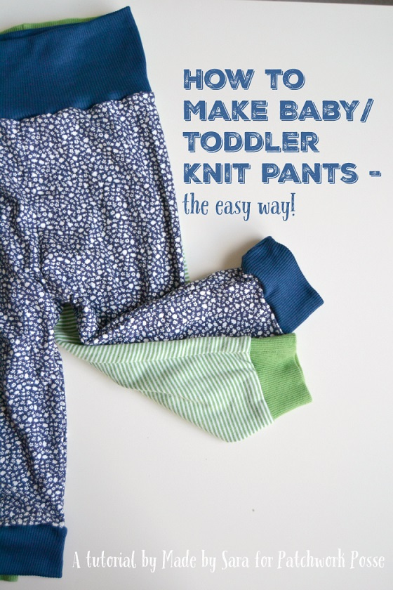 Baby Knit Pants tutorial