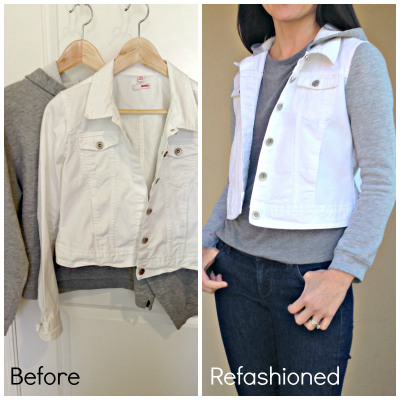 How to refashion a jean jacket