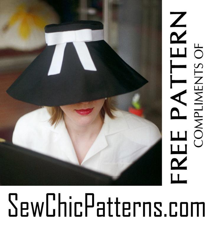 Audrey Hepburn hat pattern